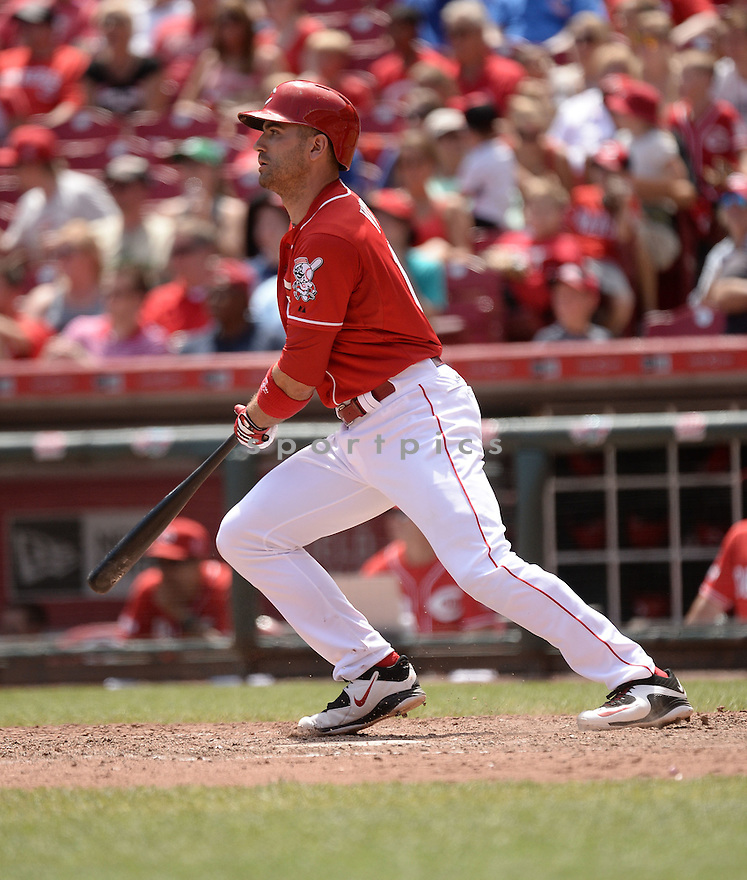 Cincinnati Reds Joey Votto (19) during the first of two games against the Chicago Cubs on July 22, 2015 at the Great American Ballpark in Cincinnati, OH. The Reds beat the Cubs 9-1.