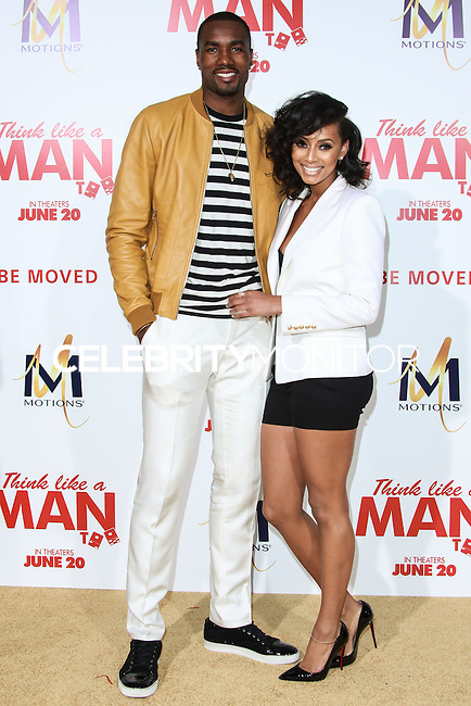 HOLLYWOOD, LOS ANGELES, CA, USA - JUNE 09: Serge Ibaka, Keri Hilson at the Los Angeles Premiere Of Screen Gems' 'Think Like A Man Too' held at the TCL Chinese Theatre on June 9, 2014 in Hollywood, Los Angeles, California, United States. (Photo by David Acosta/Celebrity Monitor)