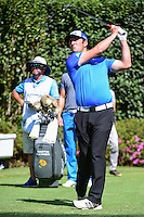 Jon Rahm (ESP) watches his tee shot on 3 during round 1 of the World Golf Championships, Mexico, Club De Golf Chapultepec, Mexico City, Mexico. 3/2/2017.<br /> Picture: Golffile | Ken Murray<br /> <br /> <br /> All photo usage must carry mandatory copyright credit (&copy; Golffile | Ken Murray)