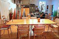 minimal wooden dining room