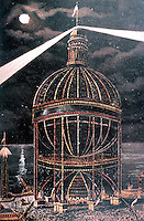 """New York:  Globe Tower, Coney Island, 1906.  First version """"at least three times as high as the Flatiron Building."""""""