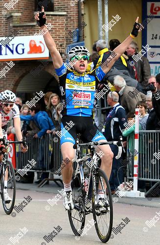 2010-05-15 / Wielrennen / Ridley Tour 2010 Balen / Alexander Geuens won de massaspurt..Foto: mpics
