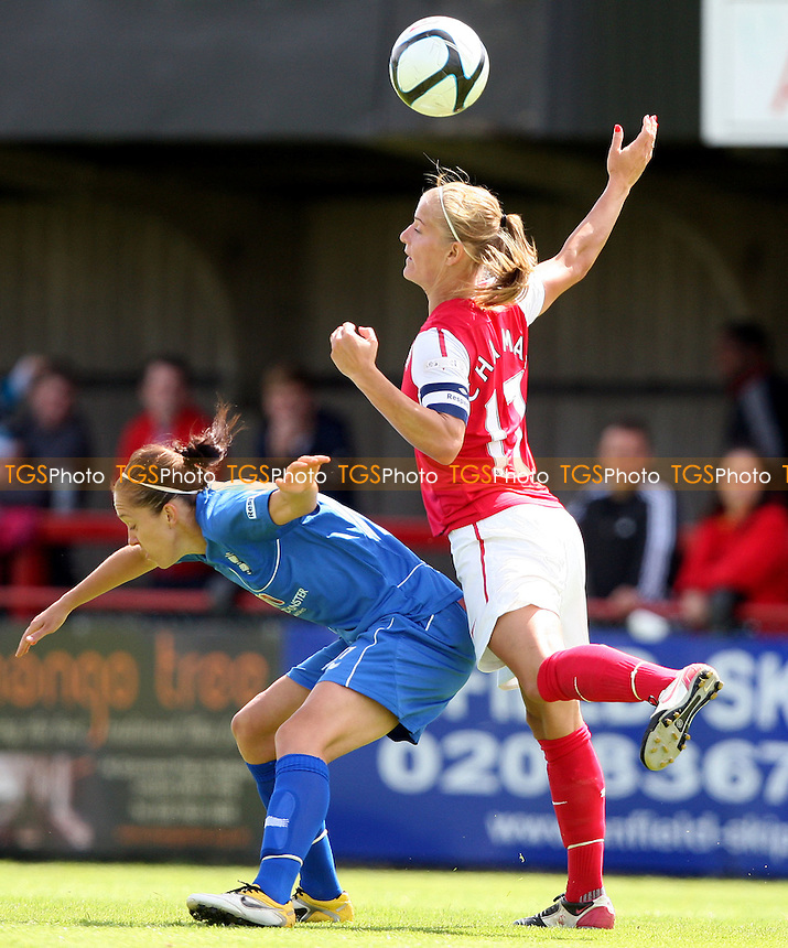 Katie Chapman of Arsenal in action - Arsenal Ladies versus Birmingham City Ladies, Women's Super League at Boreham Wood FC - 24/06/12 - MANDATORY CREDIT: Rob Newell/TGSPHOTO - Self billing applies where appropriate - 0845 094 6026 - contact@tgsphoto.co.uk - NO UNPAID USE..
