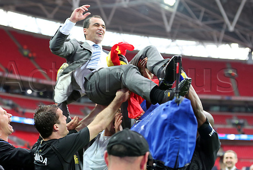 11.05.2013 London, England. Roberto Martinez manager of Wigan Athletic after  the FA Cup Final between Wigan Athletic and Manchester City from Wembley Stadium.