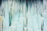 Ice formation on Minnehaha Falls in Minneapolis, Minnesota.