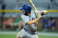 Jeremy Wolf (3) of the Kingsport Mets at bat against the Burlington Royals at Burlington Athletic Stadium on July 18, 2016 in Burlington, North Carolina.  The Royals defeated the Mets 8-2.  (Brian Westerholt/Four Seam Images)