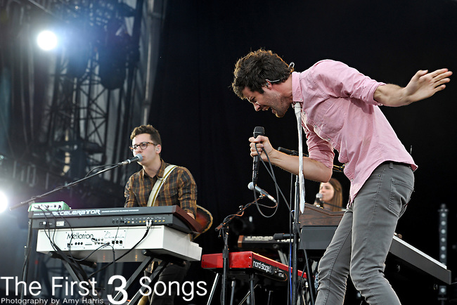 American electropop band Passion Fruit performs during the Made in America Music Fesival in Philadelphia, Pennsylvania.