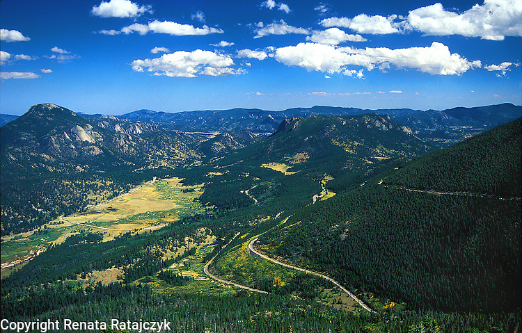 View on Hidden Valley, Rocky Mountains, Colorado