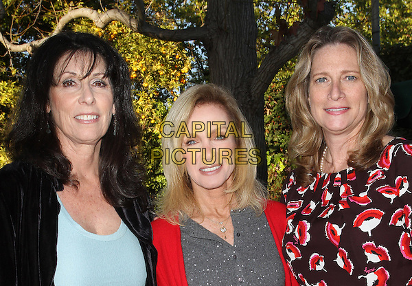 Malibu Mayor Laura Rosenthal, Donna Mils, Betsy Butler.Leaders from across the 50th District support of Betsy Butler's re-election Campaign Held At A Private Residence, Brentwood, California, USA, .3rd March 2012.portrait headshot  red print .CAP/ADM/FS.©Faye Sadou/AdMedia/Capital Pictures.