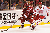 Alexander Kerfoot (Harvard - 14), Jakob Forsbacka Karlsson (BU - 23) - The Harvard University Crimson defeated the Boston University Terriers 6-3 (EN) to win the 2017 Beanpot on Monday, February 13, 2017, at TD Garden in Boston, Massachusetts.