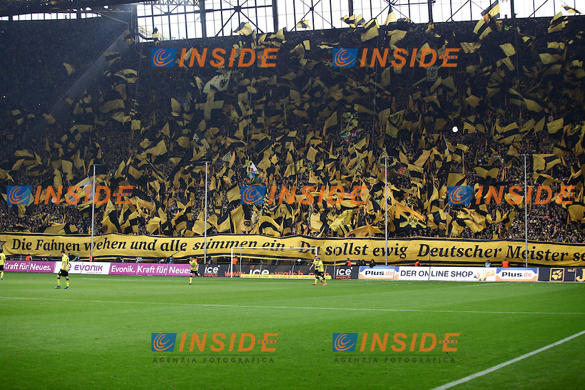 Esultanza Tifosi.Borussia Dortmund Campione di Germania.05/05/2012, Signal Iduna Park, Dortmund.Borussia Dortmund vs SC Freiburg.festeggiamenti vittoria Campionato Bundesliga .Foto Insidefoto / Alexander Neis / Eibner/ EXPA.ITALY ONLY