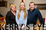 Tracy O'Keefe from the Kerries celebrating her 16th Birthday with family at Bella Bia on Tuesday Pictured Sandra O'Keefe, Tracy O'Keefe, and Sean O'Keefe