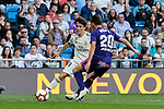 Real Madrid's Alvaro Odriozola and Real Club Celta de Vigo's Kevin Vazquez during La Liga match between Real Madrid and Real Club Celta de Vigo at Santiago Bernabeu Stadium in Madrid, Spain. March 16, 2019. (ALTERPHOTOS/A. Perez Meca)