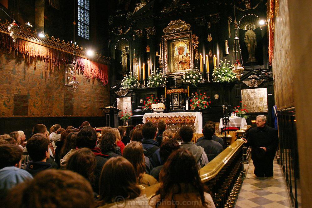 Czestochowa, Poland  Mass at Jasna Gora Monastery (Black