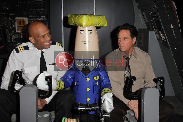 """Kareem Abdul-Jabbar, Robert Hays<br /> at a reunion of """"Airplane"""" original castmembers and directors to film spots for the Wisconsin Department of Tourism, Air Hollywood, Pacoima, CA 09-19-13<br /> David Edwards/Dailyceleb.com 818-249-4998"""