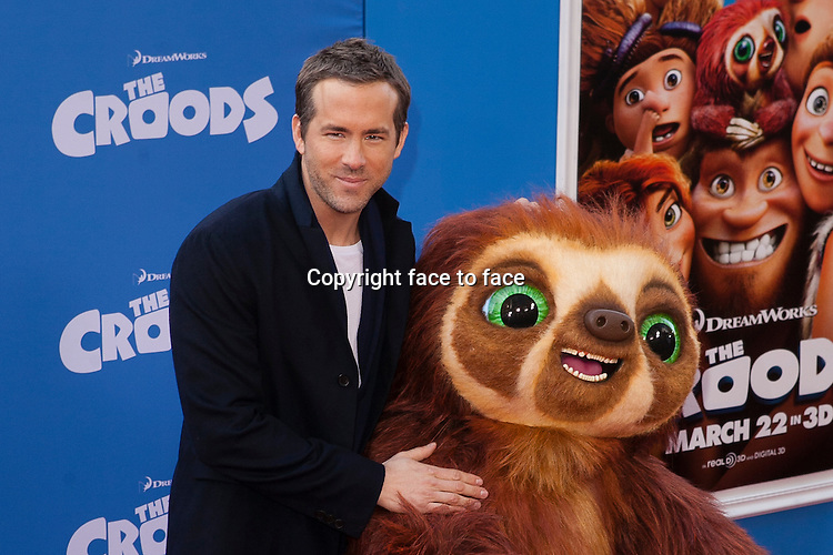 Ryan Reynolds at the premiere of The Croods at AMC Loews Lincoln Square on March 10, 2013 in New York City...Credit: MediaPunch/face to face..- Germany, Austria, Switzerland, Eastern Europe, Australia, UK, USA, Taiwan, Singapore, China, Malaysia and Thailand rights only -