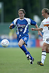 9 August 2003: Brooke O'Hanley (12) and Jenny Benson (6). The Carolina Courage tied the Philadelphia Charge 1-1 at SAS Stadium in Cary, NC in the final regular season WUSA game.