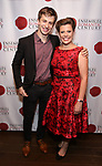 "Ari Evan and Kristina Bachrach attends the Opening Night Party for ""Because I Could Not Stop: An Encounter with Emily Dickinson"" at the West Bank Cafe on September 27, 2018 in New York City."
