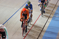 Picture by SWpix.com - 02/03/2018 - Cycling - 2018 UCI Track Cycling World Championships, Day 3 - Omnisport, Apeldoorn, Netherlands - Men's Points Race - Jan Willem van Schip of The Netherlands