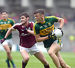 Kerry's David Clifford breaks away in the All-Ireland Minor final at Croke on Sunday.<br /> Photo: Don MacMonagle