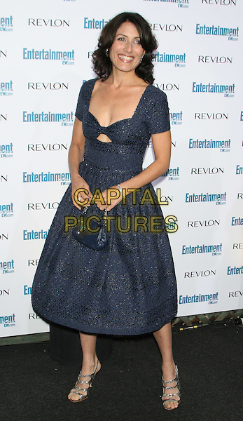 LINDA EDELSTEIN .6th Annual Entertainment Weekly Pre-Emmy Awards Party.at the Beverly Hills Post Office, Beverly Hills, CA, USA, September 20th 2008..full length navy blue dress silver shoes  cut out beaded bag.CAP/LNC/TOM.©LNC/Capital Pictures
