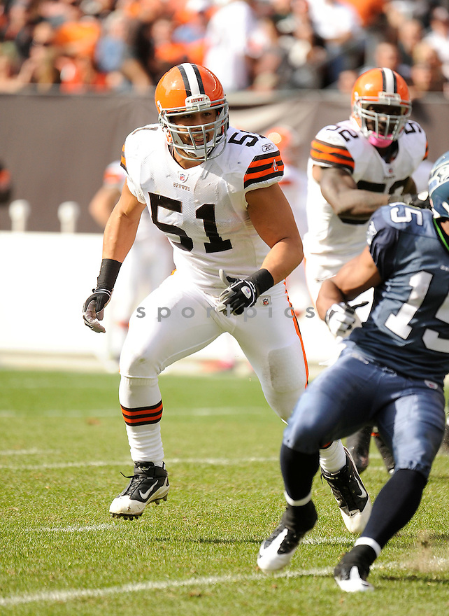 CHRIS GOCONG, of the Cleveland Browns, in action during the Browns game against the Seattle Seahawks on October 23, 2011 at Cleveland Browns Stadium in Cleveland, OH. The Browns beat the Seahawks 6-3.