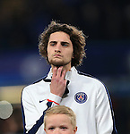 PSG's Adrien Rabiot in action<br /> <br /> - UEFA Champions League - Chelsea vs Paris Saint Germain - Stamford Bridge - London - England - 9th March 2016 - Pic David Klein/Sportimage