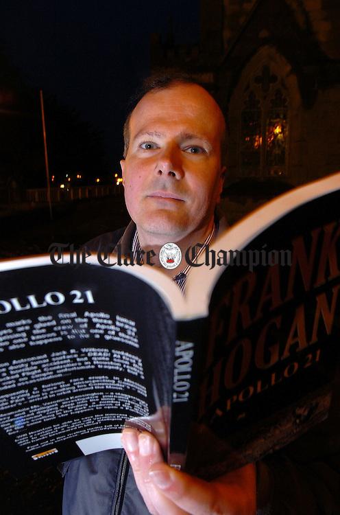 Poet Frank Hogan.Pic Arthur Ellis.