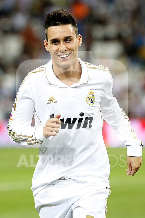 Real Madrid's Jose Manuel Callejon during Santiago Bernabeu Trophy.August 24,2011. (ALTERPHOTOS/Acero)