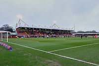 General view of the ground ahead of Crawley Town vs Bradford City, Sky Bet EFL League 2 Football at Broadfield Stadium on 11th January 2020