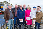 Jim Fitzgerald (Lisselton), JP McElligott, Brendan Griffin, Liam O'Mahoney, Karen, Aoibinn and Nicolas Dowling (Ardfert) at the Ballyheigue Races on Saturday.