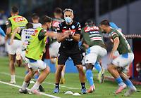13th June 2020; Stadio San Paolo, Naples, Campania, Italy; Coppa Italia Football, Napoli versus Inter Milan; Napoli players during warm up