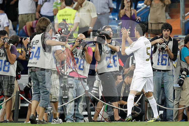 Real Madrid's Nuri Sahin presentation during Santiago Bernabeu Cup on august 24th 2011...Photo: Cesar Cebolla / ALFAQUI