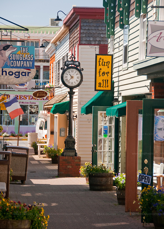 The Penny Lane Mall is a pretty alleyway of small, fun shops near the beach off Rehoboth Avenue, in Rehoboth Beach, Delaware, USA.