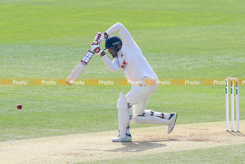 Ravi Bopara hits four runs for Essex during Essex CCC vs Lancashire CCC, Specsavers County Championship Division 1 Cricket at The Cloudfm County Ground on 8th April 2017