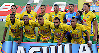 IBAGUE - COLOMBIA -30 -09-2016: Los jugadores de Atletico Huila posan para una foto durante partido entre Atletico Huila y Fortaleza C.E.I.F, por la fecha 15 de la Liga Aguila II 2016 en el estadio Manuel Murillo Toro de Ibague. / The players of Atletico Huila pose for a photo, during a match between Atletico Huila and Fortaleza C.E.I.F, for the date 15 of the Liga Aguila II 2016 at the Manuel Murilo Toro Stadium in Ibague city. Photo: VizzorImage  / Juan C Escobar / Cont.