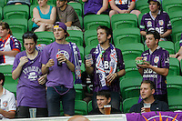 Glori''s supporter  during the  A-League soccer match between Melbourne City FC and Perth Glory at AAMI Park on February 22, 2015 in Melbourne, Australia.