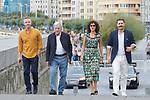 Costa Gavras, Valeria Golino and Alexandros Bourdomis attend the photocall of 'Adults in the room' during the 67th San Sebastian Donostia International Film Festival - Zinemaldia.September 21,2019.(ALTERPHOTOS/Yurena Paniagua)