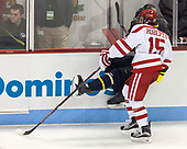 Nick Roberto (BU - 15), Alfred Larsson (Merrimack - 23) - The visiting Merrimack College Warriors defeated the Boston University Terriers 4-1 to complete a regular season sweep on Friday, January 27, 2017, at Agganis Arena in Boston, Massachusetts.The visiting Merrimack College Warriors defeated the Boston University Terriers 4-1 to complete a regular season sweep on Friday, January 27, 2017, at Agganis Arena in Boston, Massachusetts.