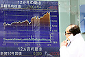 April 10, 2015, Tokyo, Japan - The 225-issue Nikkei index crossed the landmark 20,000.00 line during the morning session of trading on April 10th, 2015. This is the first time that the market has reached such a a high since April 17, 2000. (Photo by Yosuke Tanaka/AFLO)