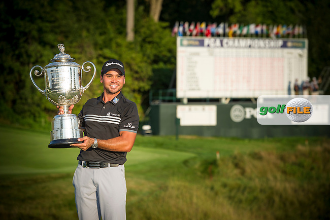 Jason Day (Aust) is all smiles after winning the 2015 USPGA Championship at Whistling Straits (Photo: Anthony Powter)