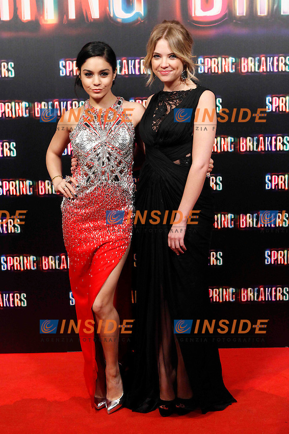 Vanessa Hudgens and Ashley Benson attends 'Spring Breakers' photocall premiere at Callao Cinema in Madrid, Spain. February 21, 2013. (ALTERPHOTOS/Caro Marin) .Madrid 20/02/2013 .Spring Breakers .Foto Insidefoto / ITALY ONLY