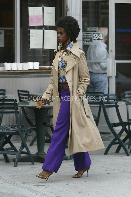 R and B singer Lauryn Hill was out on the streets of New York City's meatpacking district making a music video. In a break from her normal style the singer's next album is reportedly to be a spiritual one. August 18 2004. Please byline: BRIAN FLANNERY/ACEPIXS.COM..*PAY-PER-USE*....IMPORTANT: Please note that our old trade name New York Photo Press has changed to ACE Pictures. New York Photo Press and ACE Pictures are both owned by All Celebrity Entertainment, Inc.......All Celebrity Entertainment, Inc..Contact: Alecsey Boldeskul, (646) 267 6913..Philip vaughan, (646) 769 0430..e-mail: info@acepixs.com..Philip.Vaughan@acepixs.com