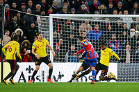 James McArthur of Crystal Palace scores the winning goal in the 92nd minute  during the Premier League match between Crystal Palace and Watford at Selhurst Park, London, England on 12 December 2017. Photo by Carlton Myrie / PRiME Media Images.
