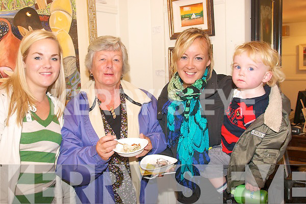 5109-5114.---------.Food is Art.-----------.Enjoying the fab food served at Artmans Gallery at the Dingle Food&Wine Festival last weekend were L-R Augusta Russel,Cai?tlin,Bri?d and Cathal Firtear from Du?n Chaoin.