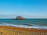 ENGLAND, Brighton, Running on the Beach