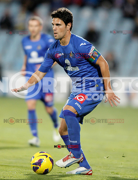 Getafe's Jaime Gavilan during La Liga match.November 18,2012. (ALTERPHOTOS/Acero) NortePhoto