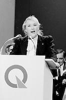 FILE PHOTO : Pauline Marois  lors du vote final de la course à la chefferie du Parti Québécois, le 29 septembre 1985<br /> <br /> PHOTO : Denis Alix -  Agence Quebec Presse