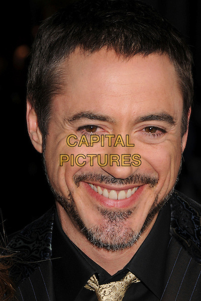 "ROBERT DOWNEY JR..""Iron Man"" Los Angeles Premiere at Grauman's Chinese Theatre, Hollywood, California, USA,.30 April 2008..portrait headshot beard facial hair gold tie .CAP/ADM/BP.©Byron Purvis/Admedia/Capital PIctures"
