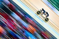 Picture by Alex Whitehead/SWpix.com - 23/03/2018 - Cycling - 2018 UCI Para-Cycling Track World Championships - Rio de Janeiro Municipal Velodrome, Barra da Tijuca, Brazil - Amanda Cameron piloted by Hannah van Kampen of New Zealand compete in the Women's B 3km Pursuit qualifying.